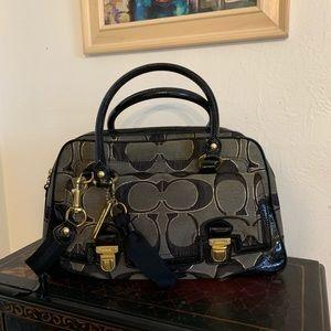 Coach Handbag With Goldstone Hardware